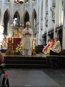 naar de mis geweest in de St. Jan waar de Bisschop aanwezig was.