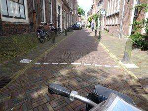 bij het JacobsGodshuis in Haarlem staat een officiele startstreep, dus hier begin ik officieel mijn pelgrimage.