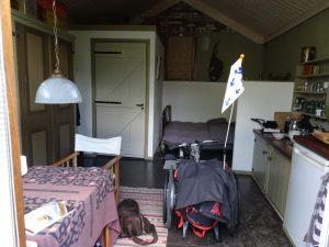 Mijn overnachtingsplek in Zaltbommel.