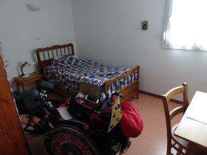 foto 2018, Clarissen Cormontreuil, slaapkamer/cel