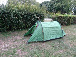 Cormontreuil naar Epernay - camping tent