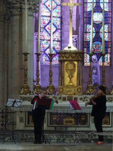 Mery-sur-Seine naar Troyes, troyes kerk concert oefening
