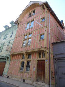 Mery-sur-Seine naar Troyes, troyes vakwerkhuis 4