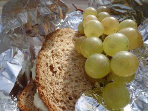 Troyes naar Sommeval, lunchpakket dat ik had meegekregen