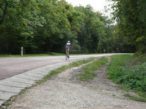 Troyes naar Sommeval wielrenner