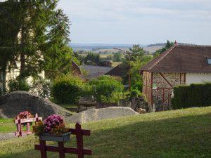 Troyes naar Sommeval, uitzicht vanaf pelgrimsherberg.