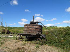 Chablis naar Accolay wijnpers