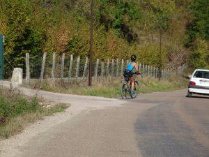 Chablis naar Accolay fietser 2e keer