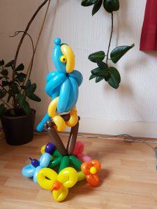 Papegaai ballon gemaakt voor Comunicant in Helmond