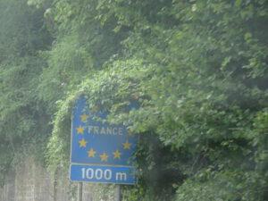2020 Frankrijk grensbord