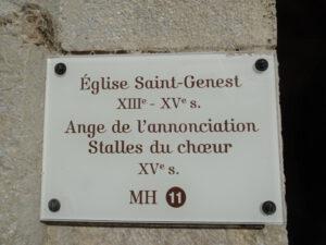 flavigny kerk bordje xvi eeuw