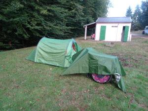 camping planchet tent tarp rolstoel wc gebouw