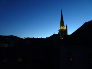 uitzicht vanuit mijn kamer in bisschoppelijk paleis