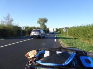 gueugnon-Parray weg net voorbij de camping